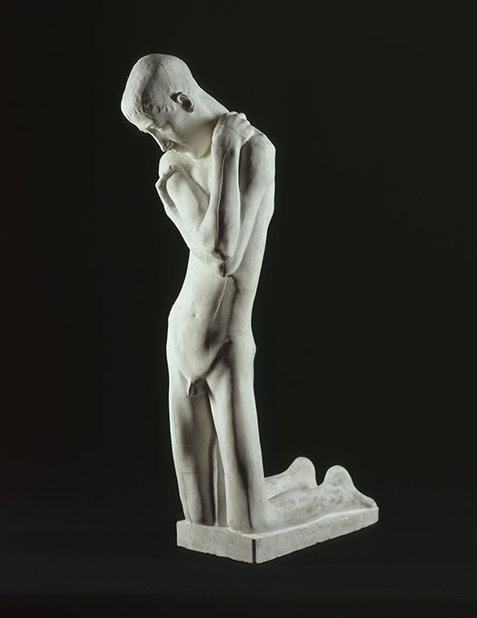 George Minne, Kneeling Youth, c. 1900, Cast plaster. Smart Museum of Art, The University of Chicago, Purchase, The Paul and Miriam Kirkley Fund for Acquisitions, 2008.16