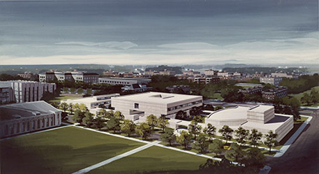 Architect's proposal for a museum and arts center