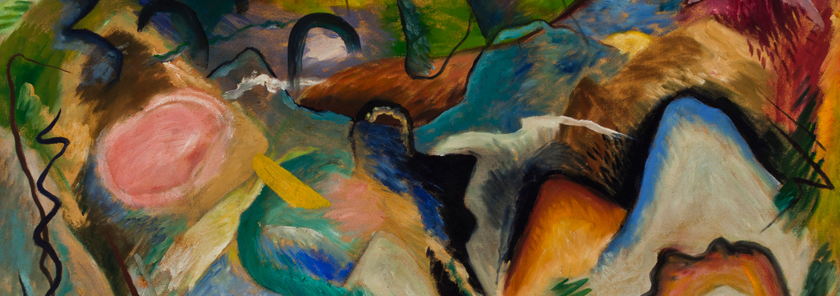 Attributed to Wassily Kandinsky, Composition (detail), 1914