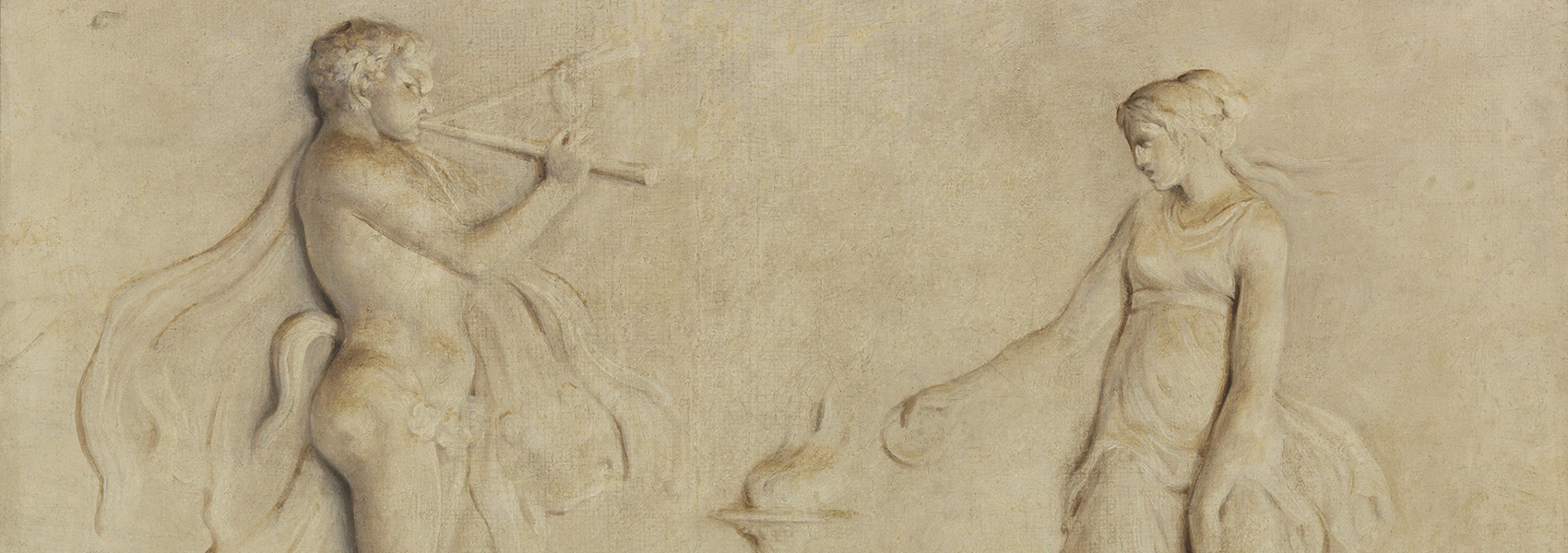Tommaso Gherardini, Classical Relief (detail), 1765, Oil on canvas. Smart Museum of Art, Gift of the Collection of Edward A. and Inge Maser, 2008.23