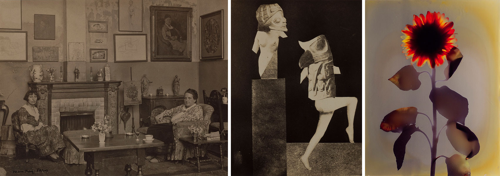 Works by Man Ray, Hannah Höch, and Adam Fuss