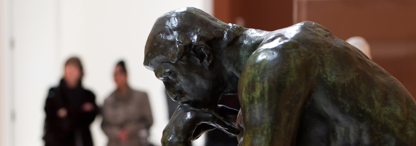 The Thinker on view in the Smart's galleries