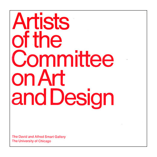 Catalogue cover for Artists of the Committee on Art and Design