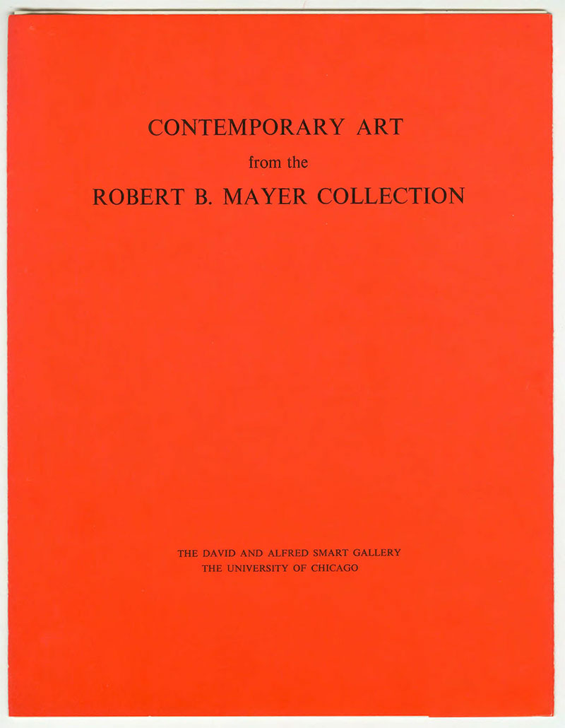 Cover for the booklet Contemporary Art from the Robert B. Mayer Collection