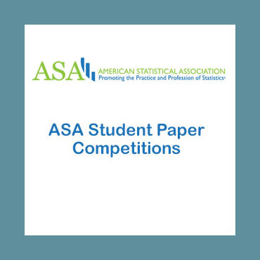 Slideshow featuring misc awards - third slide: ASA Student Paper Competition