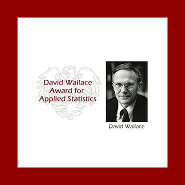 Slideshow featuring misc awards - first slide: David Wallace Award for Applied Statistics