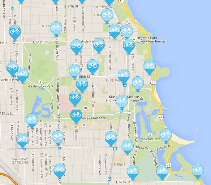 Divvy Station Map Divvy Discount | Sustainability at The University of Chicago Divvy Station Map