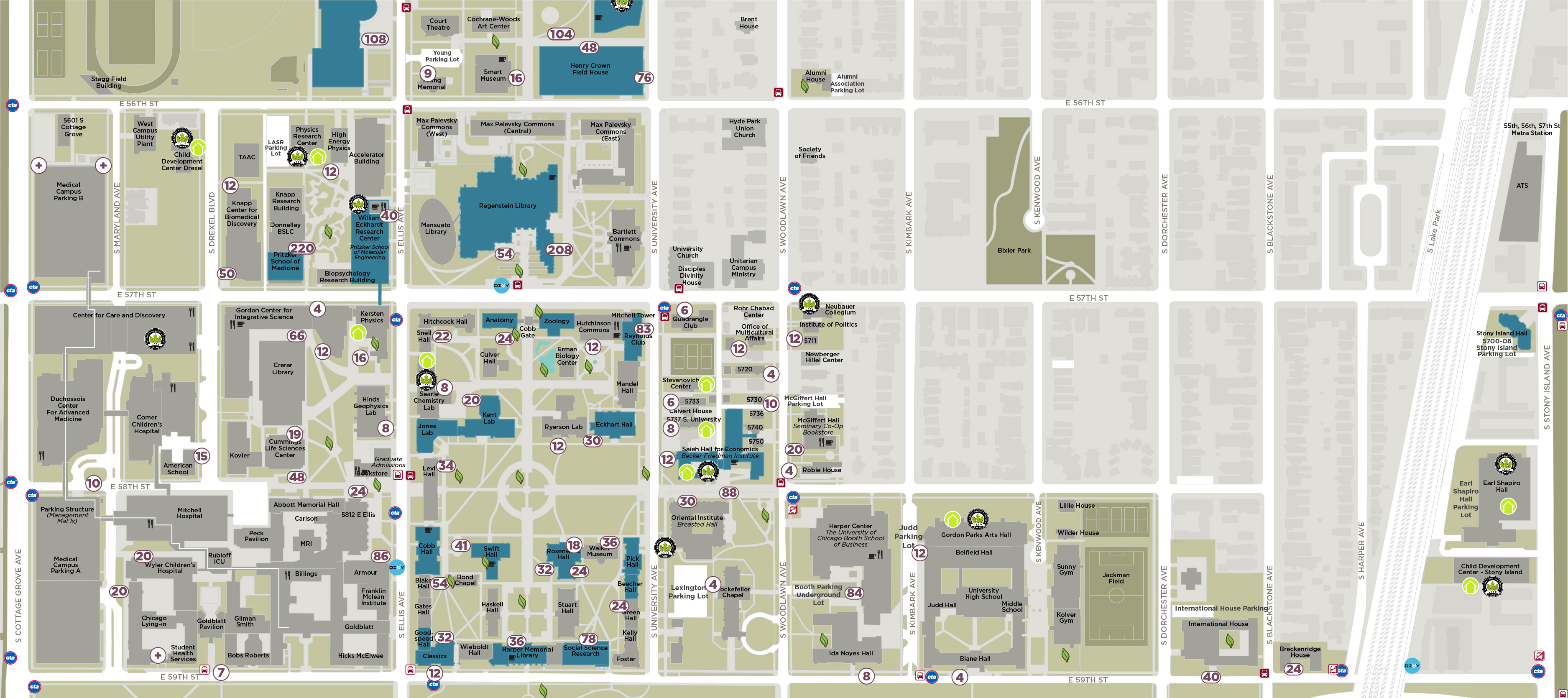 map of u of c campus Uchicago Sustainability Map Sustainability At The University Of Chicago map of u of c campus