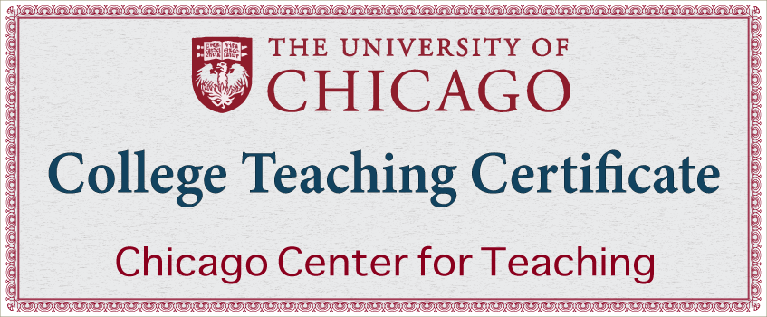 College Teaching Certificate - Chicago Center for Teaching