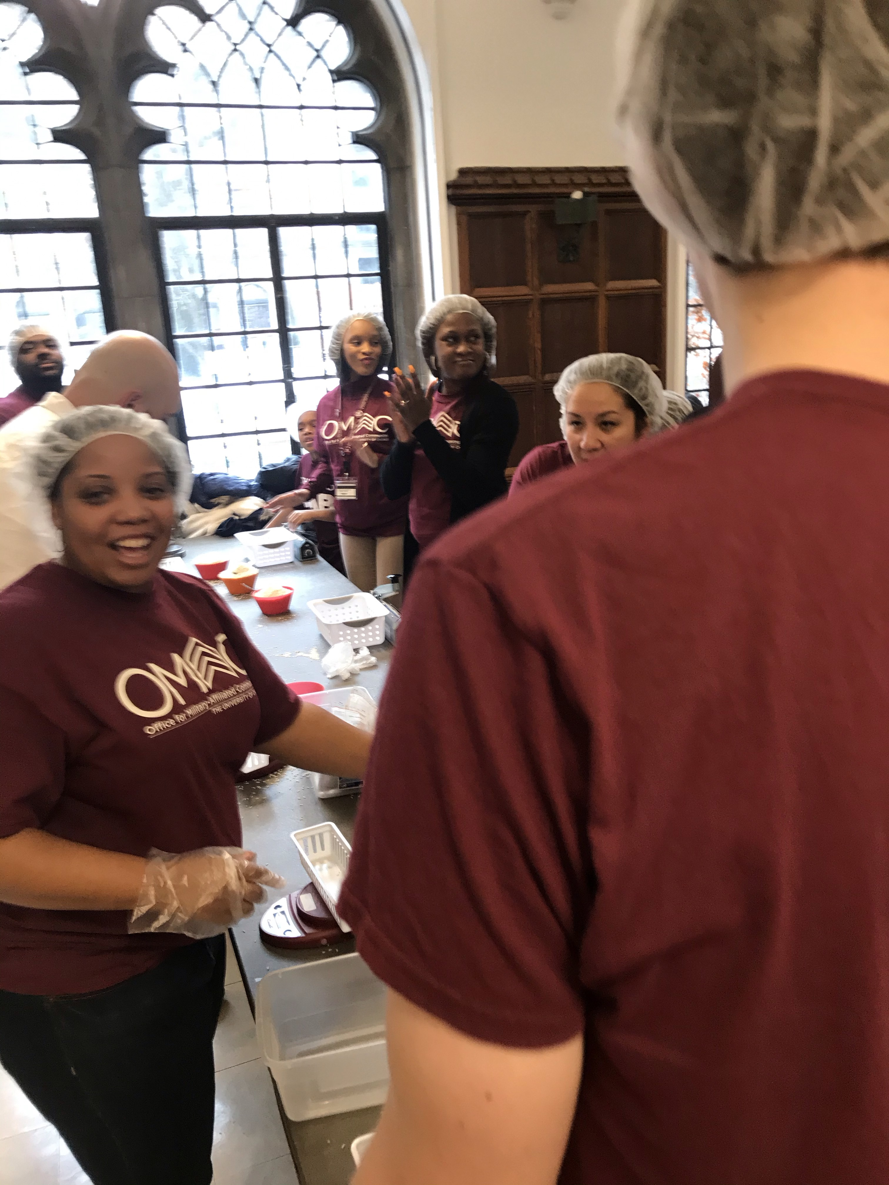 The University of Chicago Veterans and Family Readiness Program participate in MLK Service Day 2020.