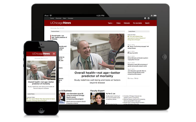 UChicago News home page