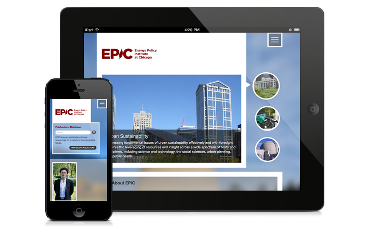 EPIC website on a phone and iPad