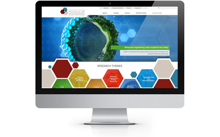 IME website on a desktop computer