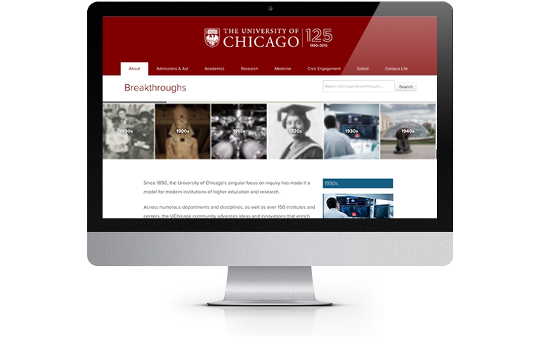 UChicago Breakthroughs website