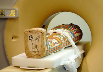 Meresamun slides through the CT scanner