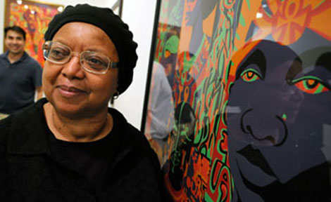 Barbara Jones-Hogu was an original member of the AfriCOBRA (African Commune of Bad Relevant Artists) group active in Chicago the late 1960s and early 1970s.