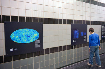 "Scientists at the University of Chicago's Kavli Institute for Cosmological Physics contributed four images to ""From Earth to the Universe,"" an exhibit at O'Hare International Airport."