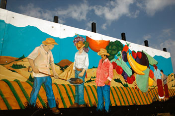 A mural at the Bronzeville Market