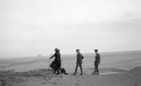 James Henry Breasted tours archaeology sites in Egypt with his traveling party in December 1919