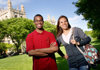 Roderick Baker (2006 alumnus) and Fabiola Salazar (2009) both participated in the Collegiate Scholars program as high-schoolers.