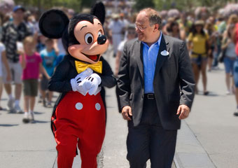 Mickey Mouse and Jay Rasulo