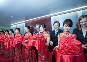 Ribbon cutting at the opening of the new Center in Beijing on Sept. 15