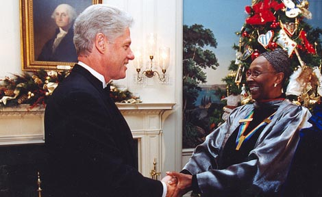 Judith Jamison with former President Bill Clinton.