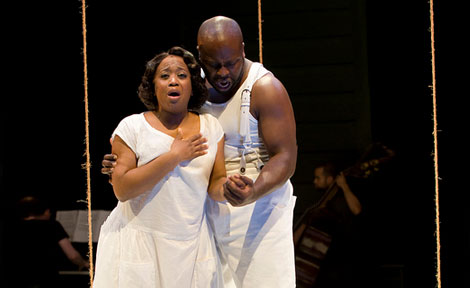lexis J. Rogers as Bess and James Earl Jones II as Crown