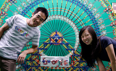 Jolyn Yao (right) spent her summer as an intern in Google's New York City office.