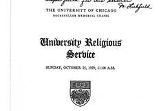 University Religious Service