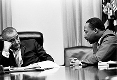 President Lyndon B. Johnson and MLK