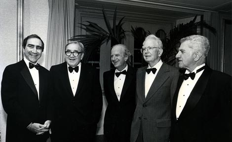 ronald coase with other uchicago nobel prize winners
