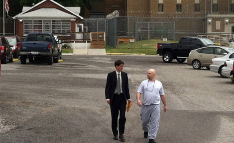 Karl Leonard, JD'09, and the Exoneration Project secured the June 2012 release of James Kluppelberg (right)