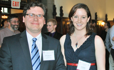 Jason Merchant, professor of Linguistics, and his student Lelia Glass