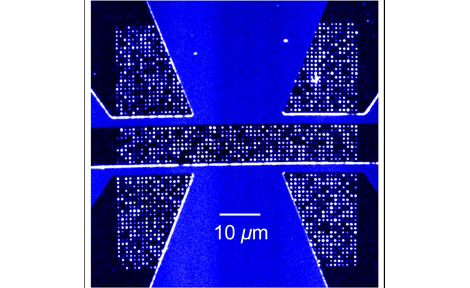 Individual electron spin quantum bits fabricated in a single crystal diamond film