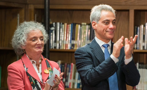 Mayor Rahm Emanuel and Jo Marie Yonkus