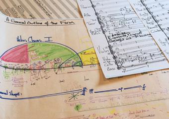 Sheet music of UChicago Prof. Augusta Read Thomas