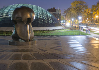 "Henry Moore's ""Nuclear Energy"" sculpture"