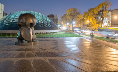 "Henry Moore's sculpture ""Nuclear Energy"""
