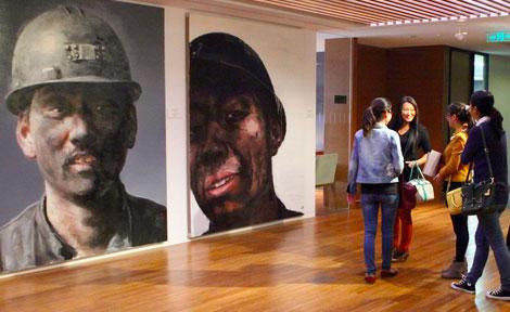 "Xu Weixin's ""Seven Miners"" portraits"