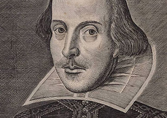 Etching print of William Shakespeare