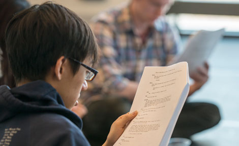 UChicago student Martin So reads script