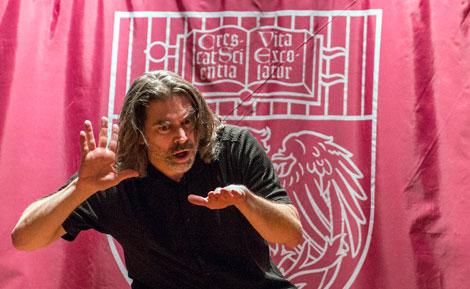 Deaf poet Peter Cook