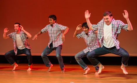 Students perform in the SASA show at UChicago