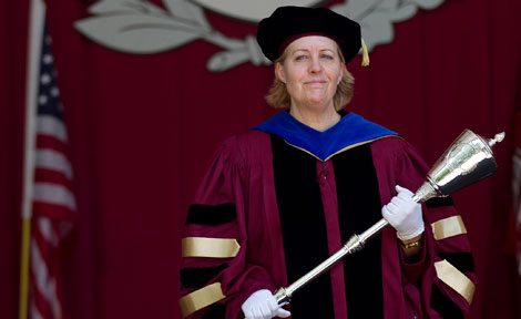 University Marshal Catherine Baumann at Convocation 2012