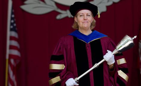 University Marshal Catherine Baumann at Convocation 2012