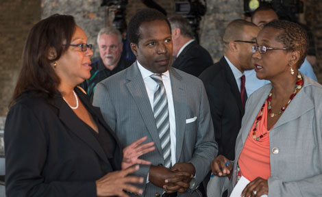 Derek Douglas and Sonya Malunda of UChicago Civic Engagment