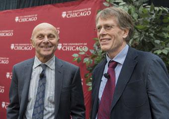 UChicago scholars Eugene Fama and Lars Peter Hansen
