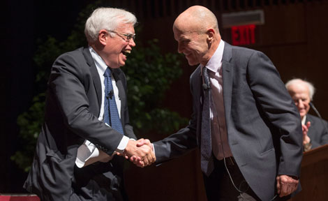 Nobel winners James Heckman and Eugene Fama