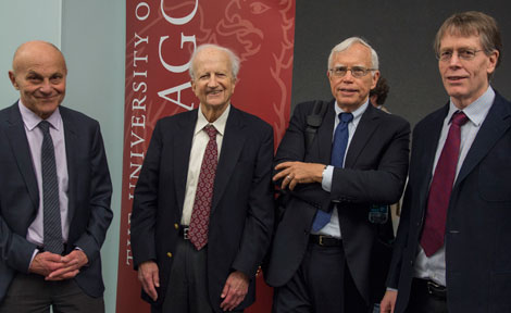 UChicago Prof. Eugene Fama, Gary BEcker, James Heckman and Lars Hansen
